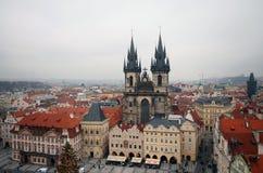 Quadrato di Praga Città Vecchia Fotografia Stock