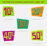Quadrato di prezzi dell'etichetta Fotografie Stock