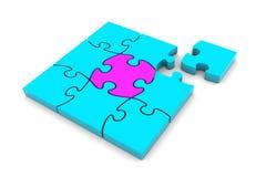 Quadrato di puzzle Fotografia Stock Libera da Diritti