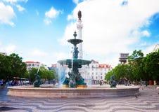 Quadrato di Rossio, Lisbona fotografie stock