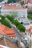 Quadrato di Rossio, Lisbona fotografie stock libere da diritti