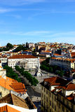 Quadrato di Rossio, Lisbona, Portogallo Immagine Stock