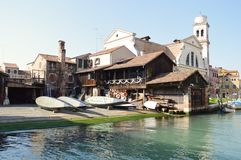 Quadrato di San Trovaso, Venezia, Italia immagine stock libera da diritti