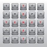 Quadrato di Sator. Palindrome famoso del sator Fotografie Stock Libere da Diritti