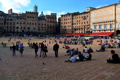 Quadrato di Siena Italys Il Campo fotografia stock libera da diritti