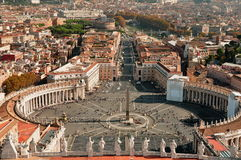 Quadrato di St.Peter, Vatican, Roma, Italia immagini stock libere da diritti