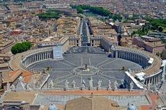 Quadrato di St Peters, Città del Vaticano Immagine Stock Libera da Diritti