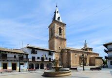 Quadrato di Tarazona de la Mancha III fotografia stock libera da diritti