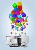 Quadrato di tecnologia Fotografia Stock
