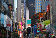 Quadrato di tempo a New York City Fotografie Stock Libere da Diritti