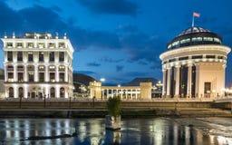 Quadrato di Theresa della madre Skopje - in Macedonia Fotografia Stock