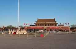 Quadrato di Tienanmen ed il portone di pace celeste. Pechino. La Cina immagine stock libera da diritti