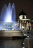 Quadrato di Trafalgar alla notte 2 fotografia stock