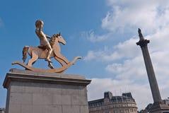 Quadrato di Trafalgar del Plinth di Fouth Fotografie Stock