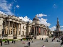 Quadrato di Trafalgar ed il National Gallery Immagini Stock Libere da Diritti