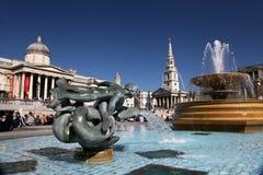 Quadrato di Trafalgar a Londra Fotografie Stock Libere da Diritti