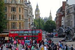 Quadrato di Trafalgar a Londra Fotografia Stock Libera da Diritti