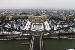Quadrato di Trocadero dalla torre Eiffel fotografia stock