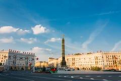 Quadrato di vittoria a Minsk, Belarus Immagini Stock