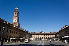 Quadrato Ducal (Vigevano) Fotografia Stock Libera da Diritti