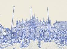 Quadrato e chiesa di San Marco a Venezia, Italia fotografia stock