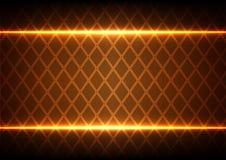 Quadrato e luce astratti su fondo marrone Immagini Stock