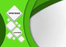Quadrato e spazio astratti per testo illustrazione vettoriale