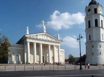 Quadrato editoriale Lituania della cattedrale di Vilnius Immagini Stock