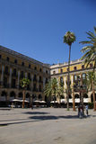Quadrato famoso di Barcellona Immagine Stock Libera da Diritti