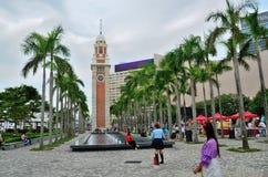Quadrato ferroviario della torre di orologio di Kowloon Fotografia Stock Libera da Diritti