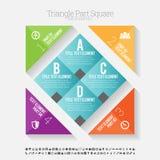 Quadrato Infographic della parte del triangolo Immagine Stock