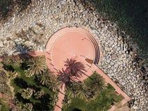 Quadrato italiano sulla vista superiore Fotografie Stock Libere da Diritti