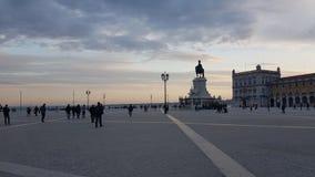 Quadrato a Lisbona Fotografia Stock