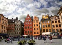 Quadrato medioevale di Stortorget a Stoccolma Fotografia Stock Libera da Diritti