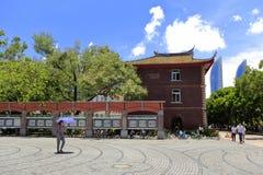 Quadrato nel campus universitario di xiamen, adobe rgb Fotografia Stock Libera da Diritti