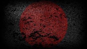 Quadrato nero con un cerchio rosso nel centro immagine stock