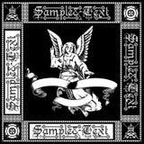 Quadrato nero di angelo Fotografie Stock