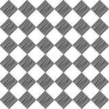 Quadrato nero senza cuciture disegnato a mano un modello su fondo bianco fotografia stock