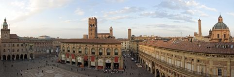 Quadrato principale - Bologna Fotografie Stock