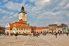 Quadrato principale in Brasov Fotografie Stock Libere da Diritti
