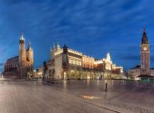 Quadrato principale a Cracovia Immagini Stock Libere da Diritti
