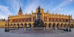 Quadrato principale del mercato a Cracovia fotografie stock libere da diritti