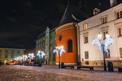 Quadrato principale del mercato a Cracovia, una di città più bella in Polonia Fotografie Stock