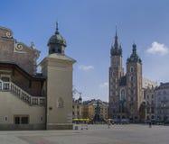 Quadrato principale del mercato di Cracovia Immagini Stock