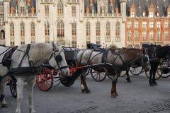 Quadrato principale di Bruges Fotografia Stock Libera da Diritti