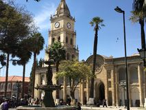 Quadrato principale di Cochabamba Fotografia Stock Libera da Diritti