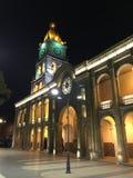 Quadrato principale di Cochabamba di notte Fotografie Stock Libere da Diritti