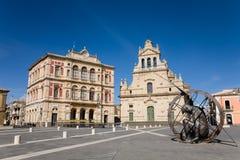 Quadrato principale, Grammichele, Sicilia fotografia stock libera da diritti