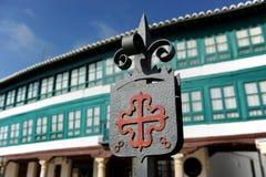 Quadrato principale La Mancha, Spagna di Almagro, Castiglia, Fotografia Stock Libera da Diritti