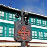 Quadrato principale La Mancha, Spagna di Almagro, Castiglia Fotografia Stock